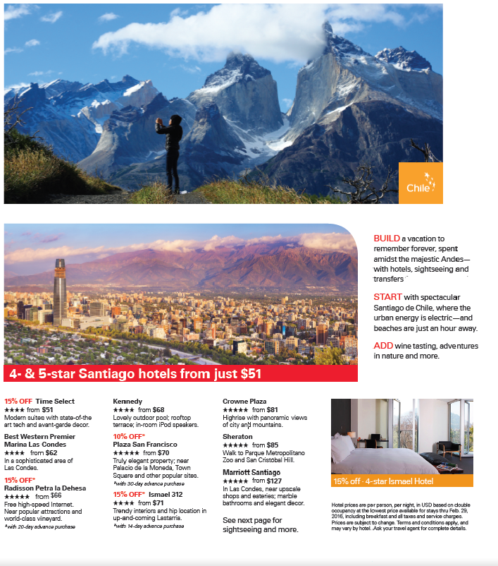 Best Chile Tours, Vacations & Travel Packages